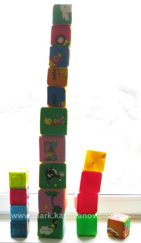 самые лучшие кубики для детей от одного до двух лет