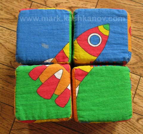 мягкие детские кубики пазлы
