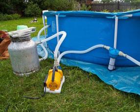 Бассейн для дачи с системой очистки воды своими руками