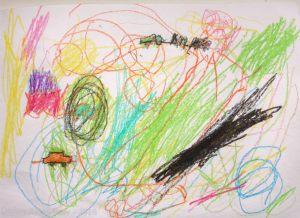 Абстрактный рисунок с машинкой