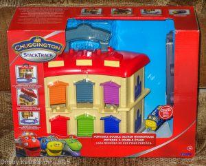 Chuggington/ Игровой набор с депо. Коробка. Вид спереди