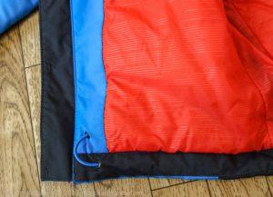 Внутренняя ткань и резинка для утяжки. Детская финская куртка Everest